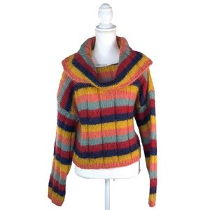 The Limited Colorful Striped Mohair Crowl Neck M/L